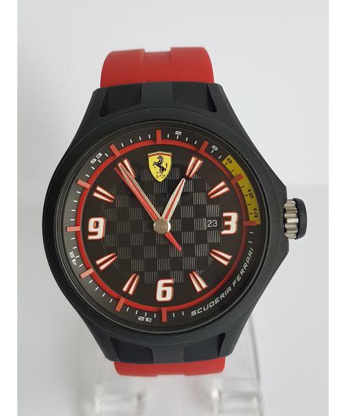 Scuderia Ferrari Men's Pit Crew Black Dial Black Strap Watch