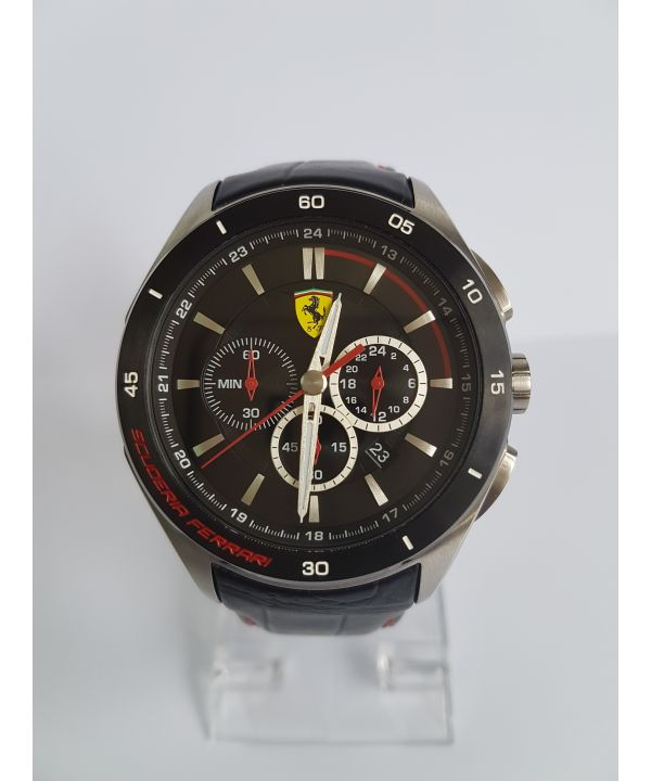 Scuderia Ferrari Men's Gran Premio Black Strap Watch ~ RRP £249.99 ~ Model 830182