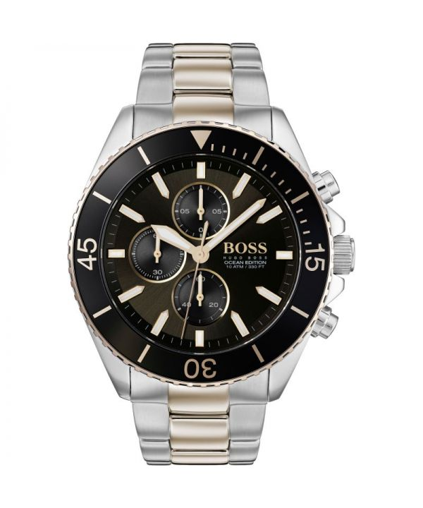 HUGO BOSS HB1513705 Ocean Edition Two Tone Men's Chronograph Watch ~RRP £400~