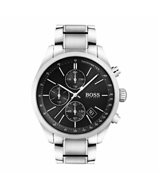 Hugo Boss HB1513477 Grand Prix Black Chronograph Watch ~RRP £349.95~